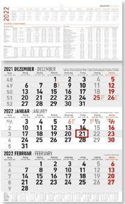 3-Monatskalender groß 2022
