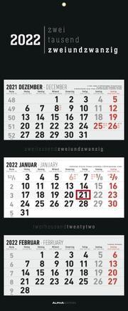 3-Monatskalender Black 2022