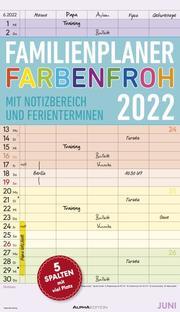 Familienplaner Farbenfroh 2022