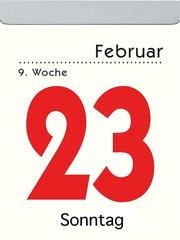 Zettler Tagesabreisskalender 2022 mit Rückseitentexten