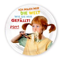 Pappteller 'Pippi Langstrumpf'