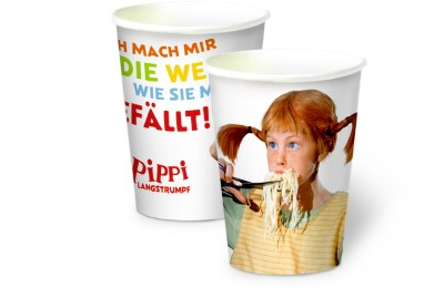 Pappbecher 'Pippi Langstrumpf'