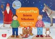 Emma und Paul feiern Nikolaus - Spielfiguren für die Erzählschiene.