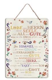 Spruchtafel 'Lobe den Herrn, meine Seele'