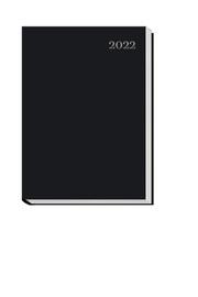 Taschenkalender schwarz A6 2022