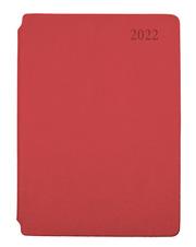 Wochenplaner A5 Soft mit Stiftfach rot 2022