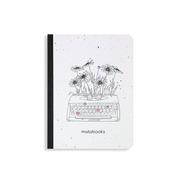 Nachhaltige Notizbücher A6 - Samenbuch 'Typewriter'