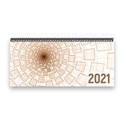 Tischkalender 2021 XL - Tunnel, braun