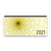 Tischkalender 2021 XL - Tunnel, gelb