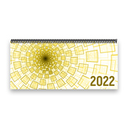 Tischkalender 2022 XL - Tunnel, gelb