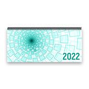 Tischkalender 2022 XL - Tunnel, türkis