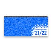 Lehrer-Tischkalender 2021/22 XL - Pixel, blau