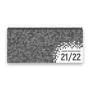 Lehrer-Tischkalender 2021/22 XL - Pixel, grau