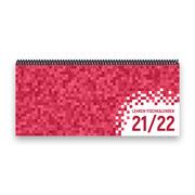 Lehrer-Tischkalender 2021/22 XL - Pixel, rosa