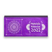 Mandala-Tischkalender 2022 XL - 1 Woche - 2 Seiten