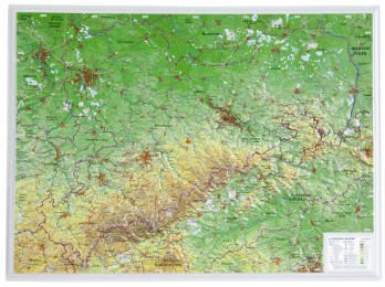 Sachsen klein 1:650.000 ohne Rahmen