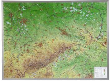 Sachsen Gross 1:325.000 mit Alurahmen