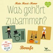 Was gehört zusammen?: Berufe - Mein Maxi-Memo - Cover