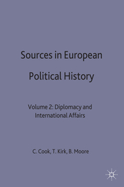 Sources in European Political History - Cover