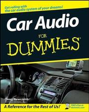 Car Audio For Dummies - Cover