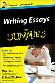 Writing Essays For Dummies, UK Edition