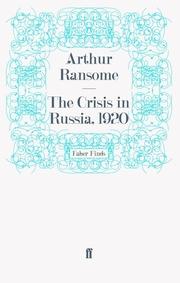 The Crisis in Russia, 1920