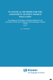 Statistical Methods for the Assessment of Point Source Pollution