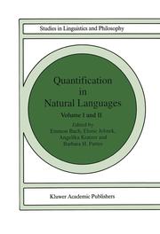 Quantification in Natural Languages