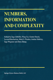 Numbers, Information and Complexity