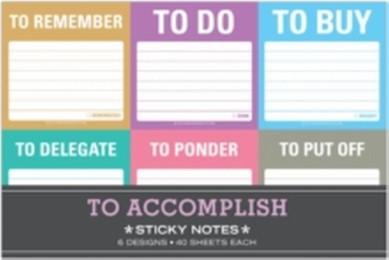 Sticky Notes 'To Accomplish'