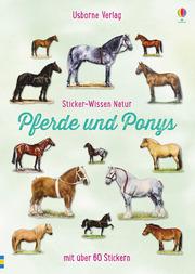 Sticker-Wissen Natur: Pferde und Ponys - Cover