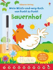 Mein Wisch-und-weg-Buch von Punkt zu Punkt: Bauernhof - Cover