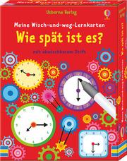 Meine Wisch-und-weg-Lernkarten: Wie spät ist es? - Cover