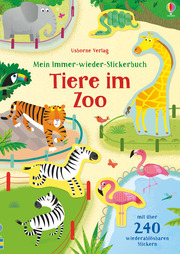 Mein Immer-wieder-Stickerbuch: Tiere im Zoo - Cover