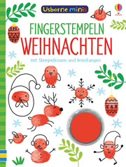 Usborne Minis - Fingerstempeln: Weihnachten