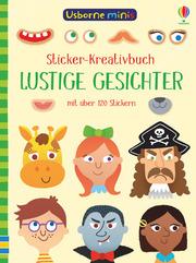 Usborne Minis - Sticker-Kreativbuch: Lustige Gesichter