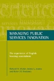 Managing public services innovation