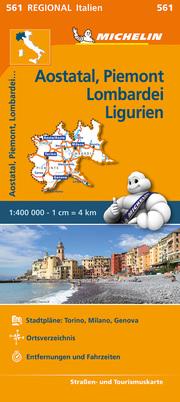 Aostatal, Piemont, Lombardei und Ligurien
