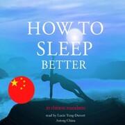 How to sleep better in chinese mandarin