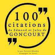 100 citations d'Edmond et Jules de Goncourt