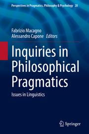 Inquiries in Philosophical Pragmatics - Cover