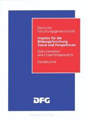 Impulse für die Bildungsforschung: Stand und Perspektiven
