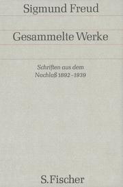 Schriften aus dem Nachlaß 1892-1938
