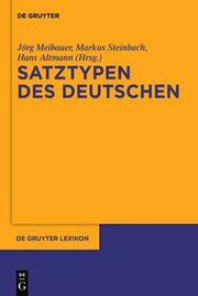 Satztypen des Deutschen - Cover
