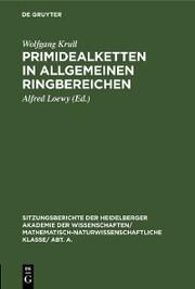 Primidealketten in allgemeinen Ringbereichen