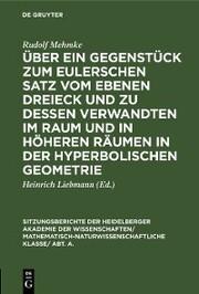 Über ein Gegenstück zum Eulerschen Satz vom ebenen Dreieck und zu dessen Verwandten im Raum und in höheren Räumen in der hyperbolischen Geometrie