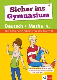 Klett Sicher ins Gymnasium Klassenarbeitstrainer Deutsch und Mathematik 4. Klasse