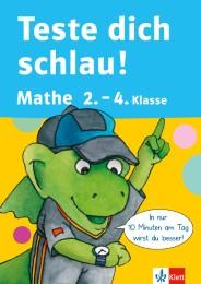 Teste dich schlau Mathe 2.-4. Klasse - Cover