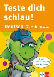 Teste dich schlau Deutsch 2.-4. Klasse - Cover