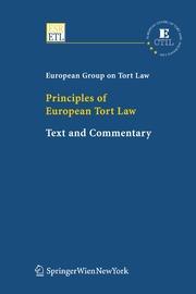 Principles of European Tort Law